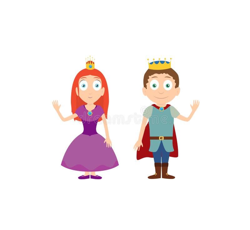 Personnages De Dessin Animé De Princesse Et De Prince Sur La