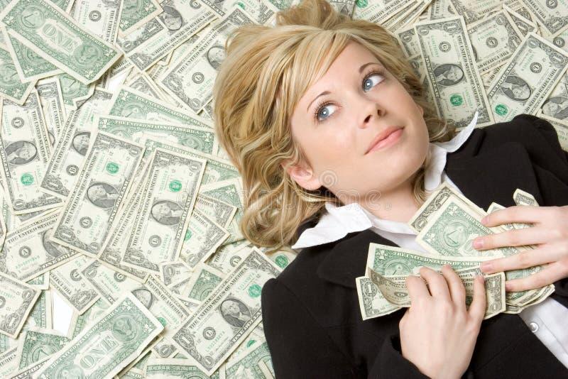 Personne avec de l'argent image libre de droits