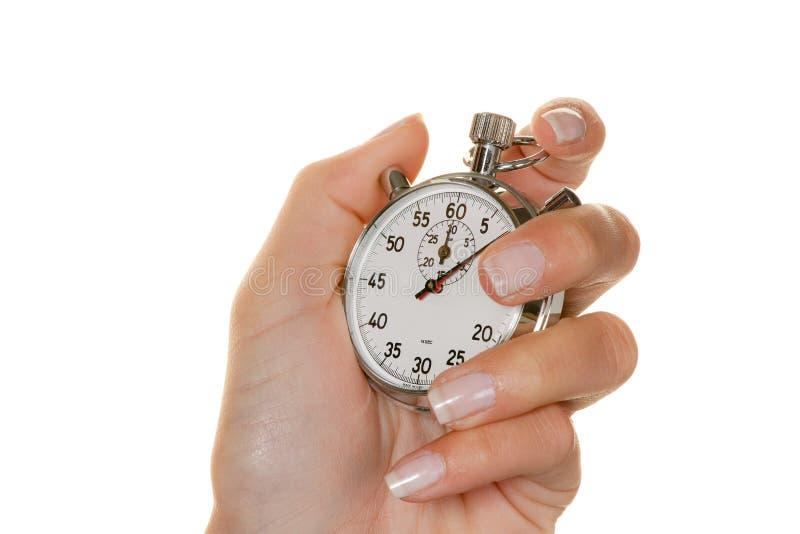 Personne avec le chronomètre images stock