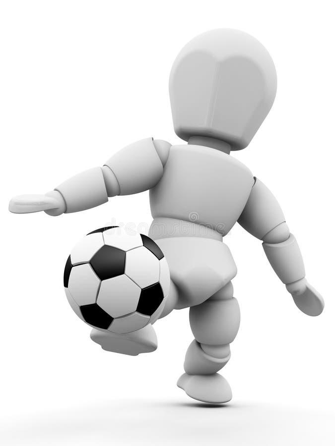 Personne avec le football illustration libre de droits