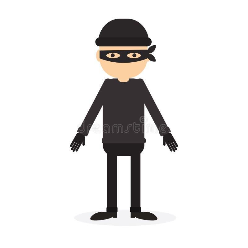 personne criminelle illustration de vecteur