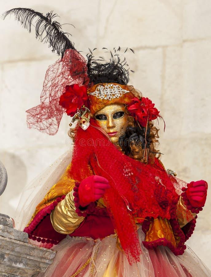 Personne déguisée - carnaval vénitien 2014 d'Annecy photos stock