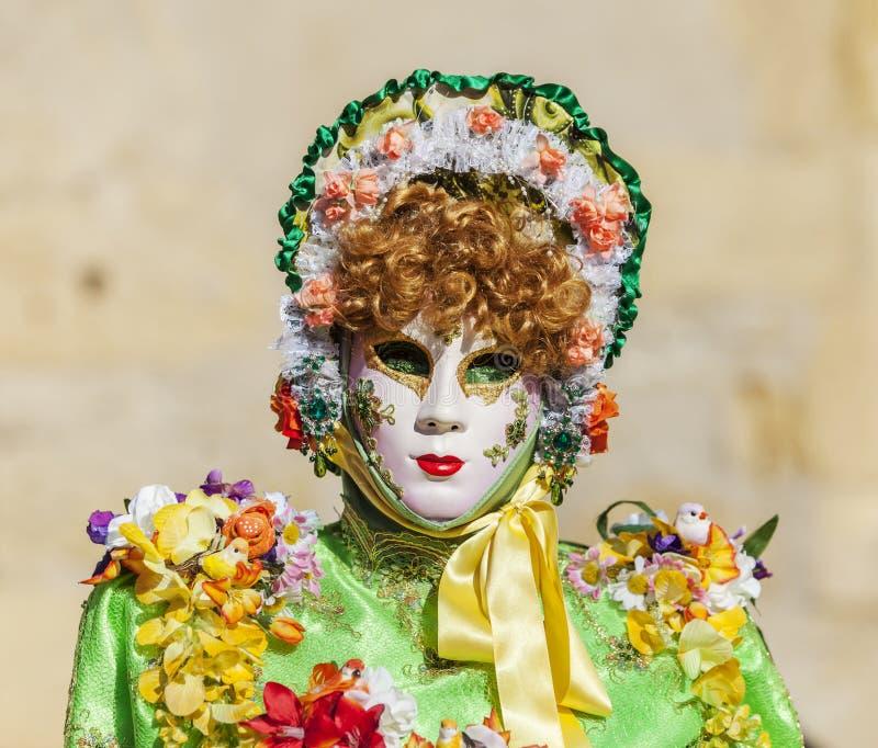 Personne déguisée - carnaval vénitien 2014 d'Annecy images libres de droits