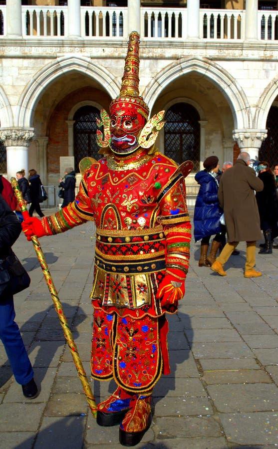 Personne déguisée stupéfiante Venise image stock