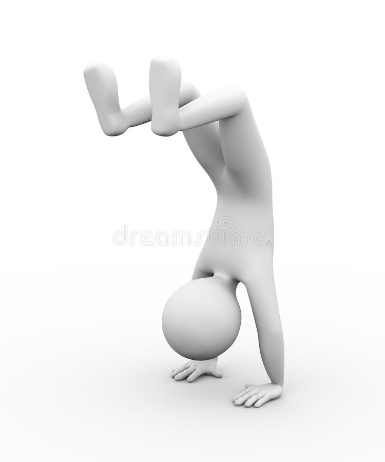 personne 3d se tenant sur l'illustration de mains illustration libre de droits