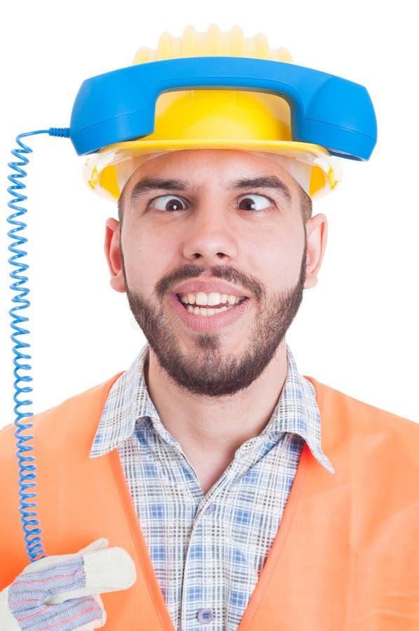 Personne de contact drôle d'entreprise de construction photo libre de droits