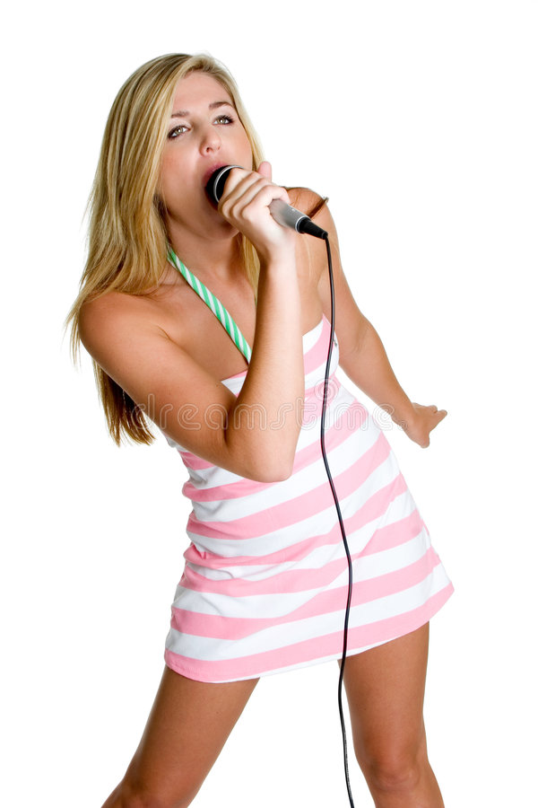 Personne de karaoke photos stock