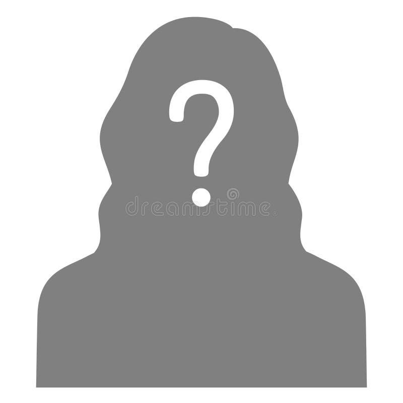 personne disparue, affiche voulue graphique, anonyme perdu illustration stock