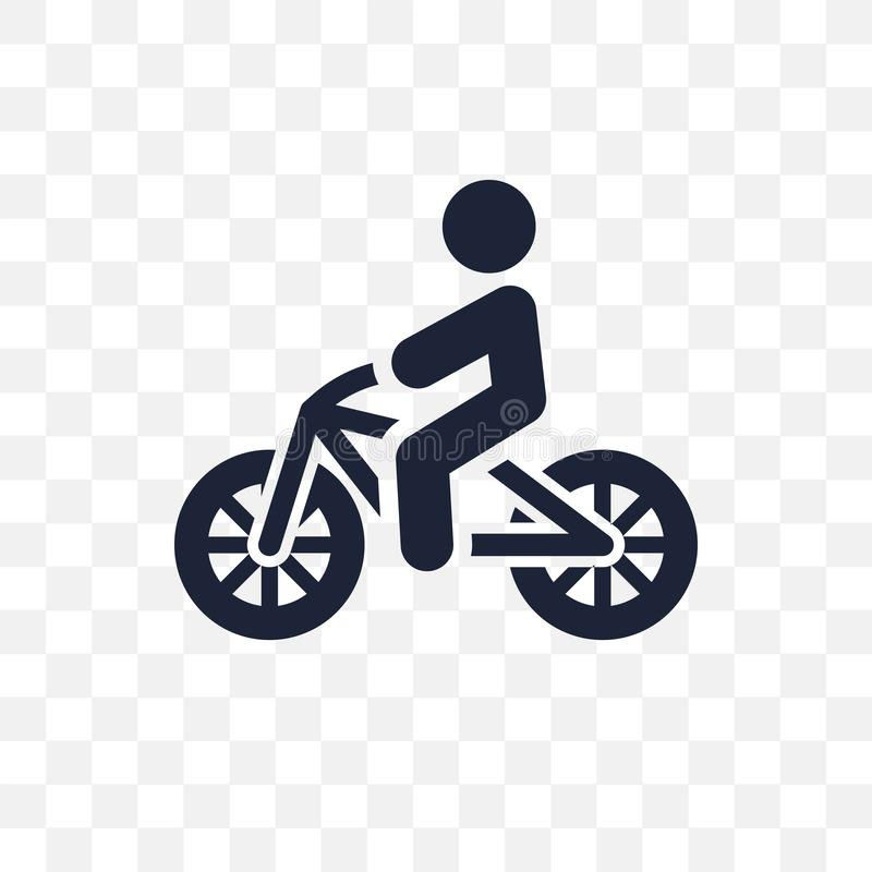 Personne faisant du vélo l'icône transparente Conception faisante du vélo de symbole de personne de illustration libre de droits