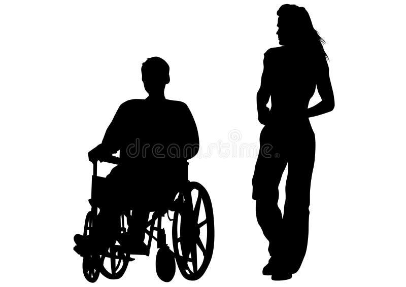 personne handicapée illustration de vecteur