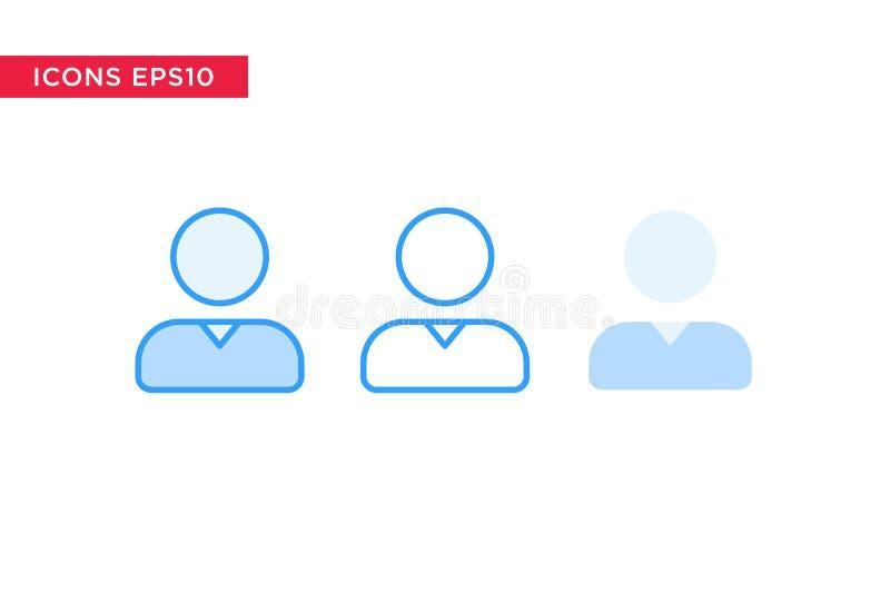 Personne, icône de personnes dans la ligne, contour, contour rempli et style plat de conception d'isolement sur le fond blanc Vec illustration de vecteur