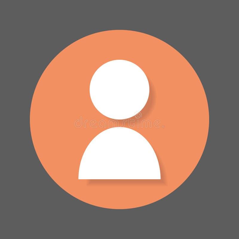 Personne, icône plate de compte utilisateur Bouton coloré rond, signe circulaire de vecteur d'avatar avec l'effet d'ombre illustration libre de droits