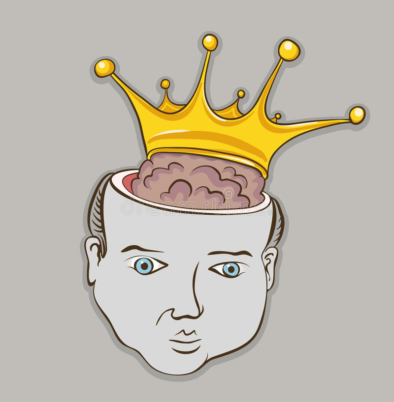 Personne intelligente de cerveau illustration stock