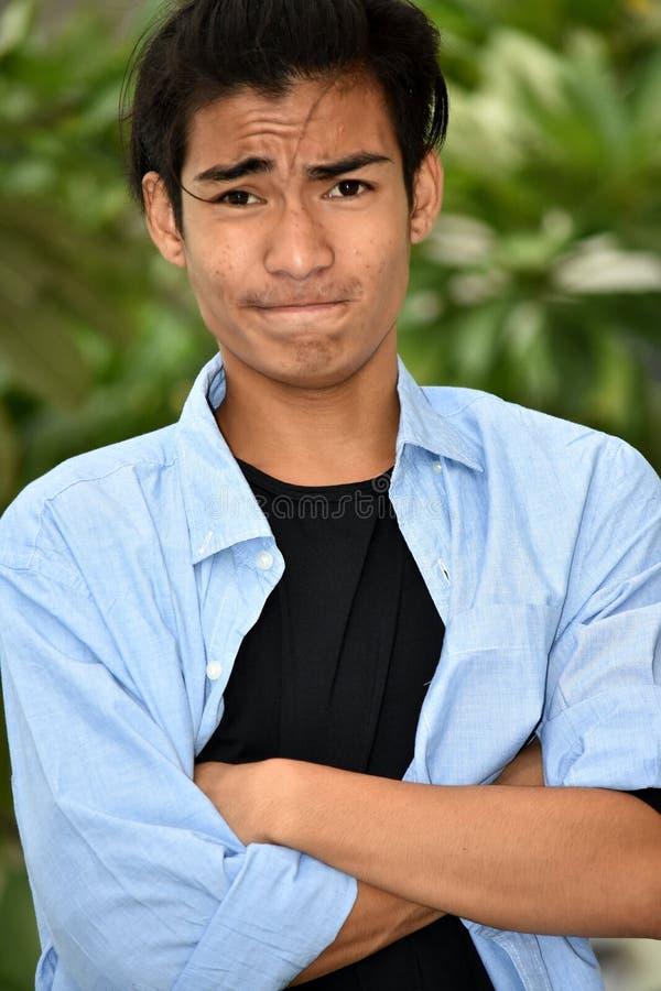Personne masculine asiatique têtue photos libres de droits