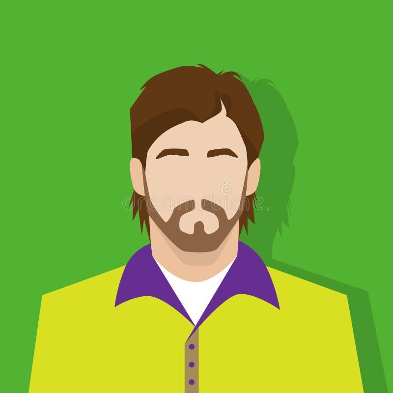 Personne occasionnelle de portrait masculin d'avatar d'icône de profil illustration libre de droits