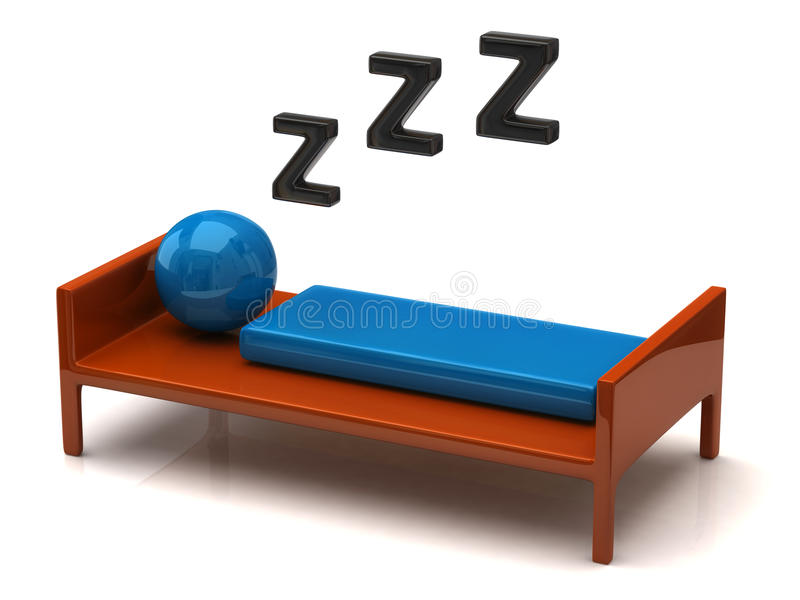Personne solidement de sommeil illustration stock