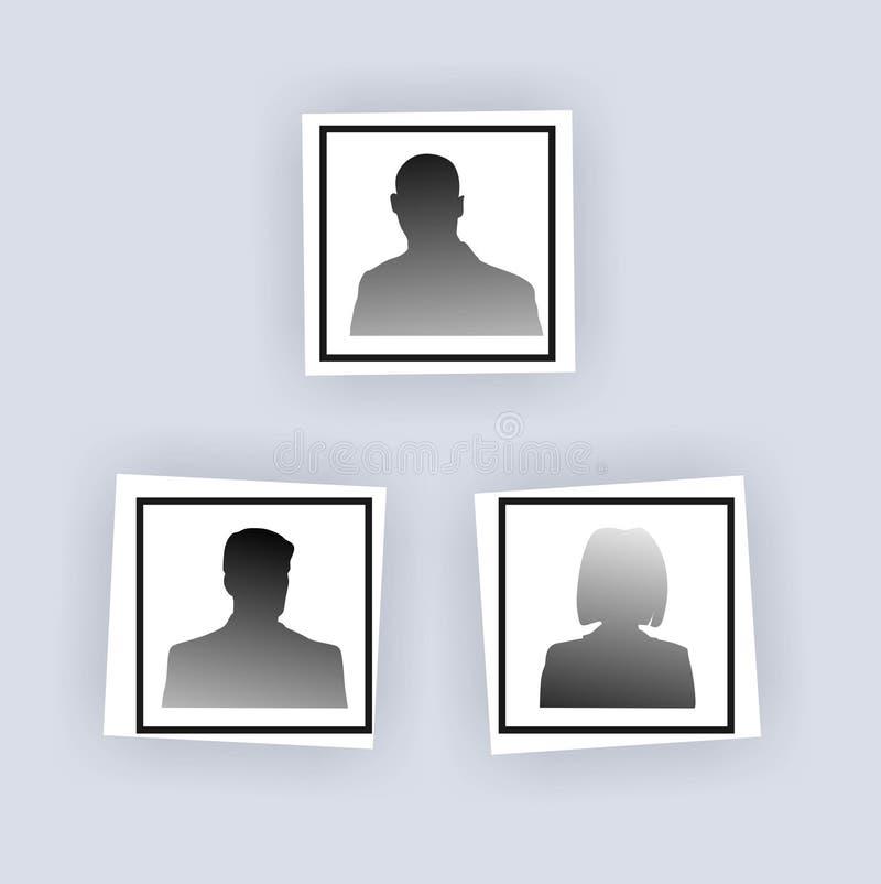 Personnel illustration stock