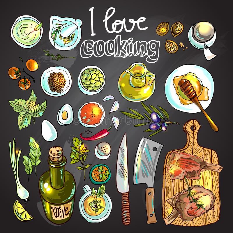 Personnel de la cuisson illustration stock