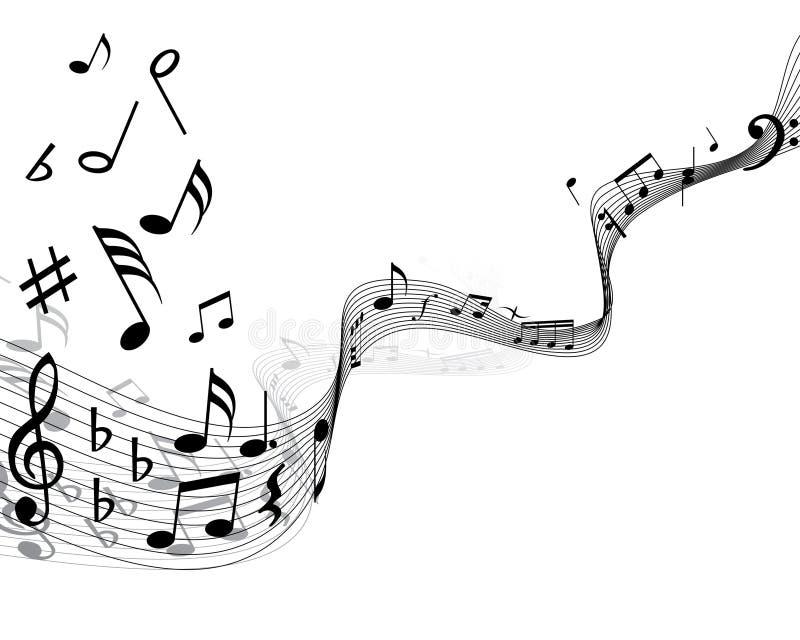 personnel de note musicale illustration libre de droits