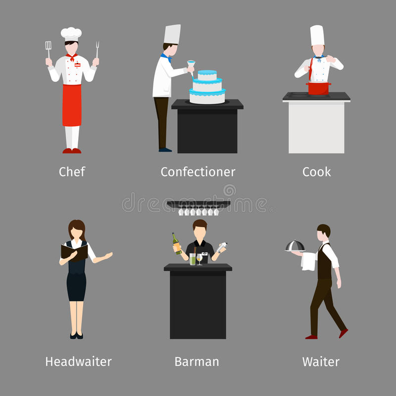 Personnel de restauration illustration stock
