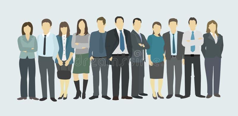 Personnel de société de groupe d'affaires illustration libre de droits
