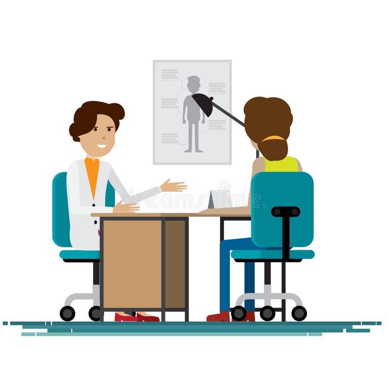 Personnel médical avec des patients Illustration de vecteur illustration de vecteur