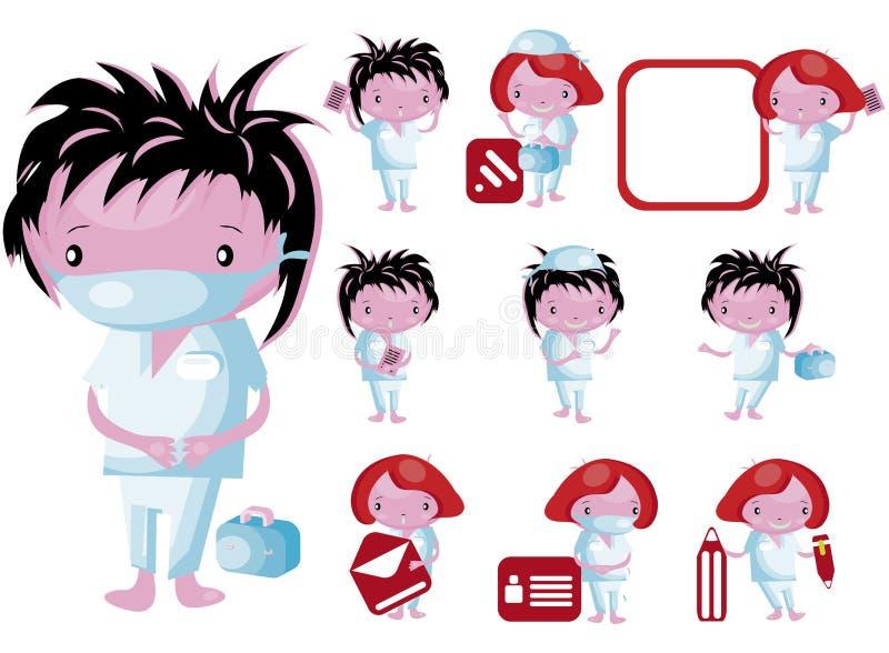 Personnel médical de graphismes de site Web illustration stock