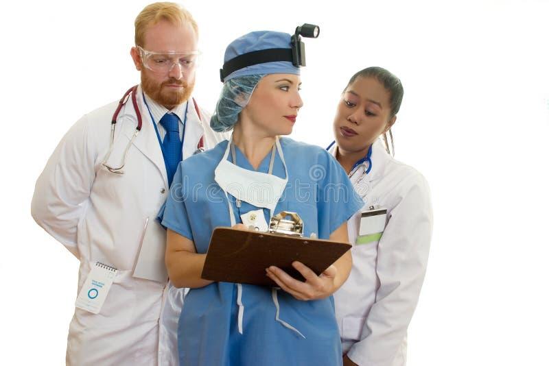 Personnel médical des soins de santé trois photos stock