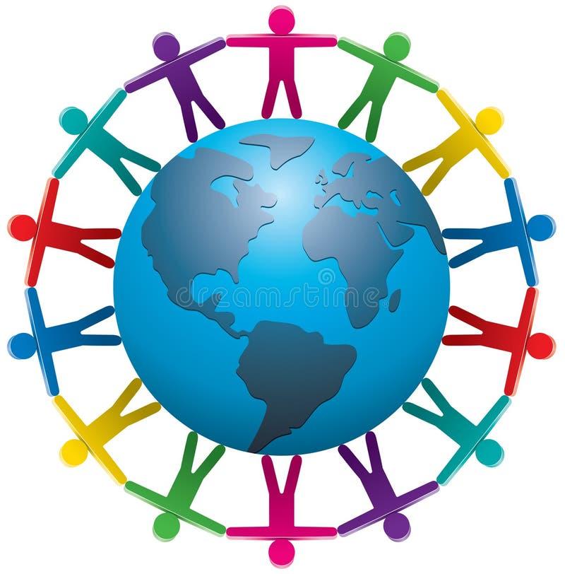 Personnes à travers le monde illustration libre de droits