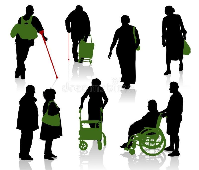 Personnes âgées illustration libre de droits