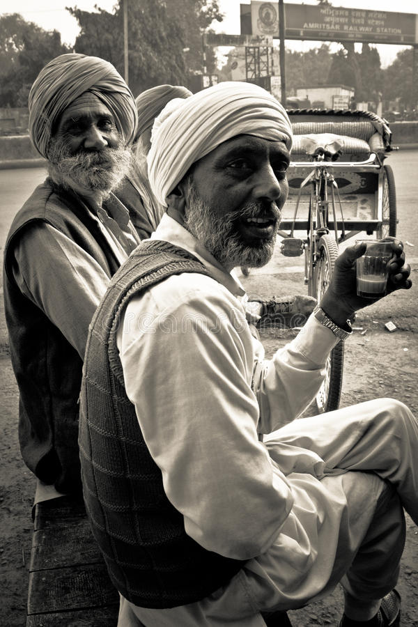 Personnes âgées d'Amritsar, Pendjab, Inde images libres de droits