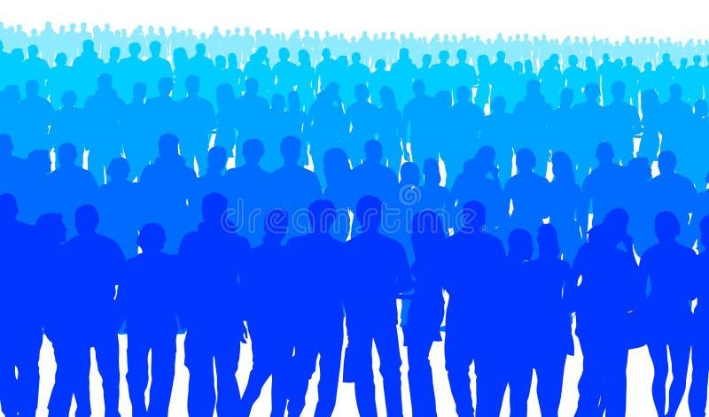 Personnes bleues illustration de vecteur