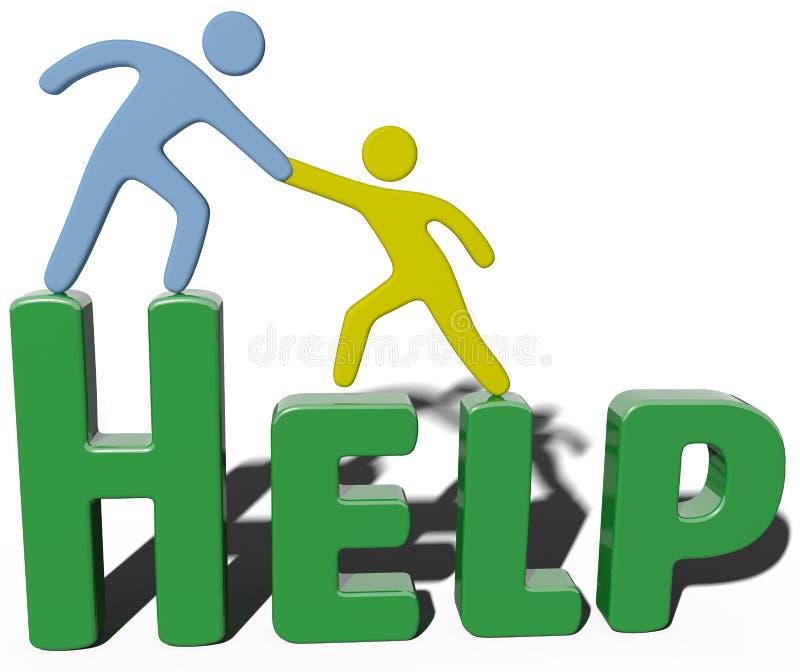 Personnes conulting d'aide de soutien d'affaires illustration de vecteur