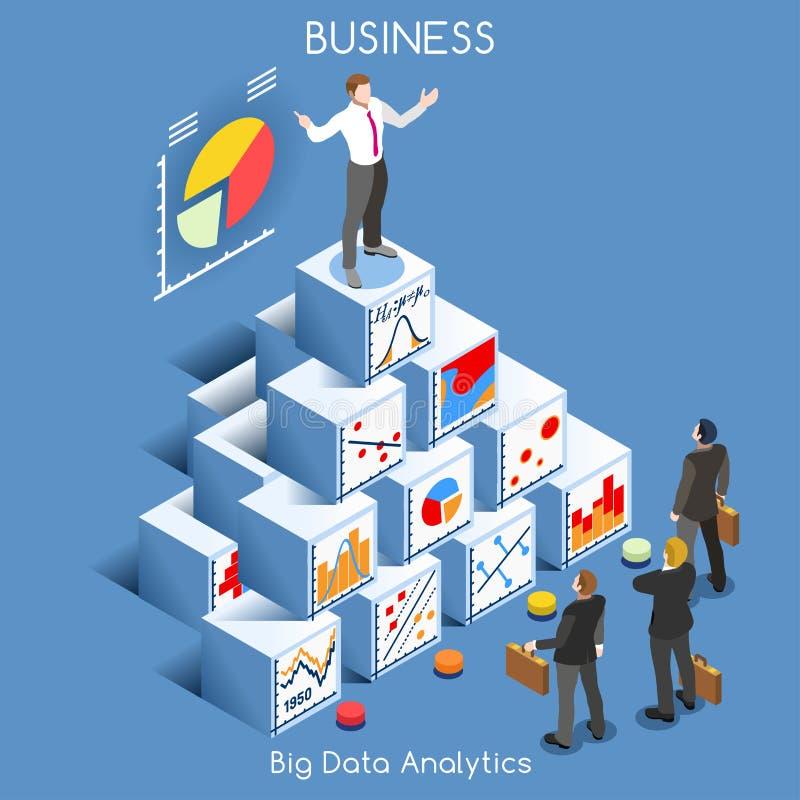 Personnes d'Analytics de données isométriques illustration de vecteur