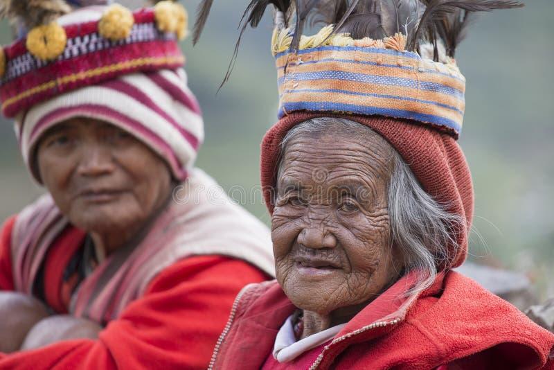 Personnes d'ifugao de portrait dans Banaue, Philippines image libre de droits