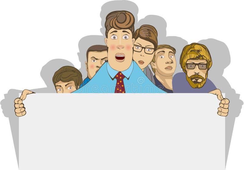 Personnes de bureau illustration de vecteur