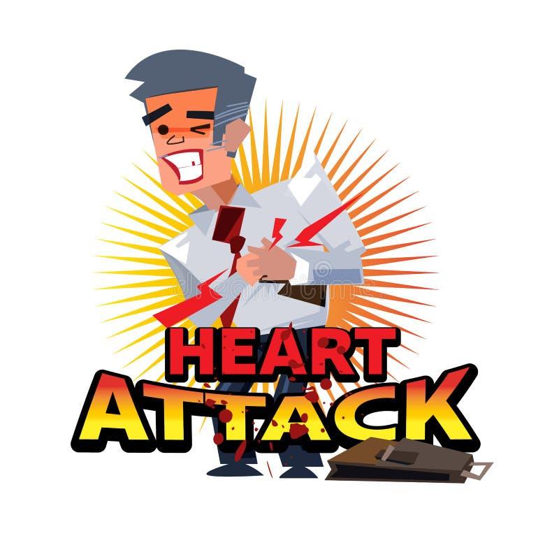 Personnes de crise cardiaque avec le logotype - vecteur illustration stock