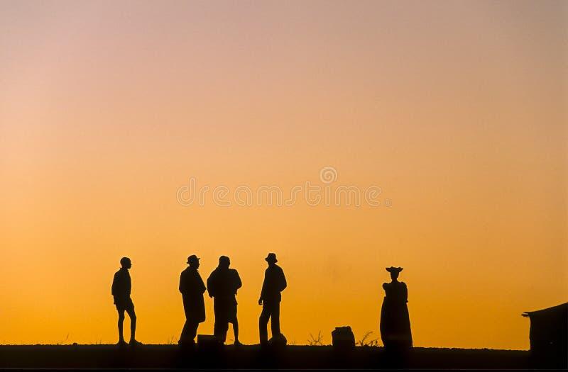 Personnes de Herero dans Kaokoland, Namibie image libre de droits