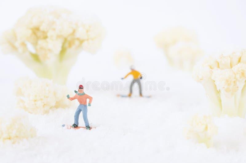 Personnes de jouet de snowboarding images libres de droits
