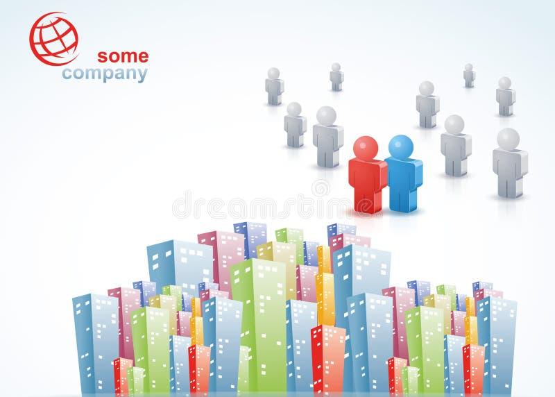 Personnes de la brochure 3D de ville illustration stock
