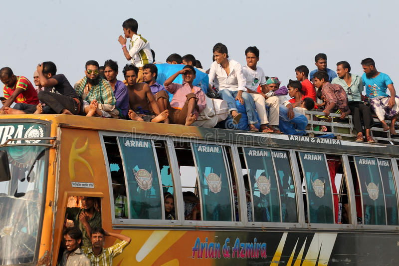 Personnes de limite à la maison le jour passé de l'Eid-UL-Adha photos libres de droits