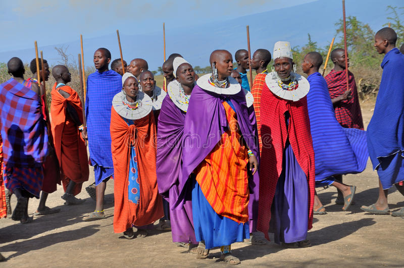 Personnes de Maasai photo stock