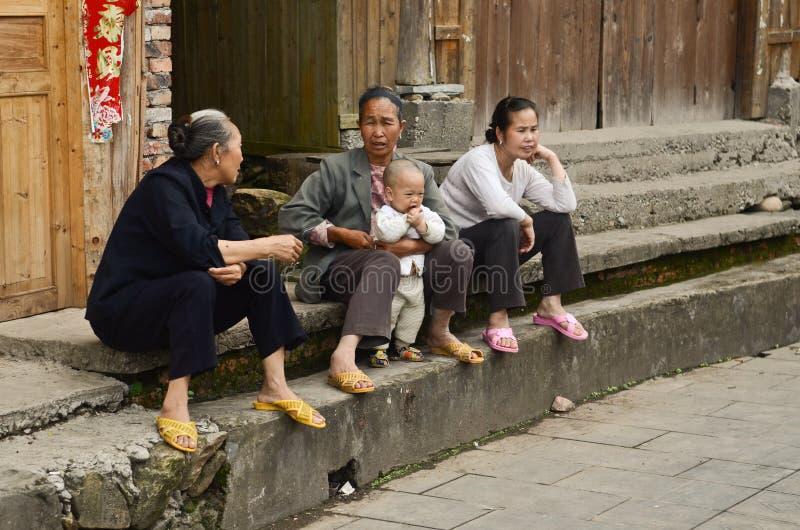 Personnes de minorité ethnique de Dong photographie stock libre de droits