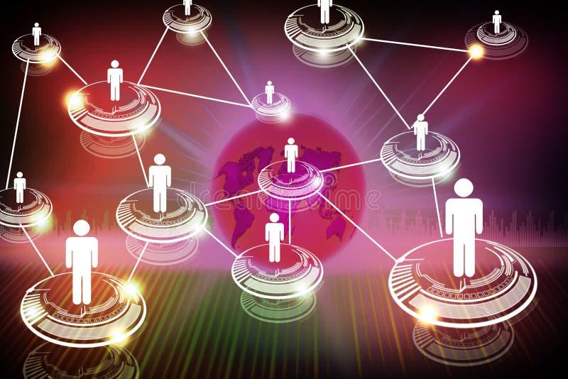 Personnes de mise en réseau illustration stock