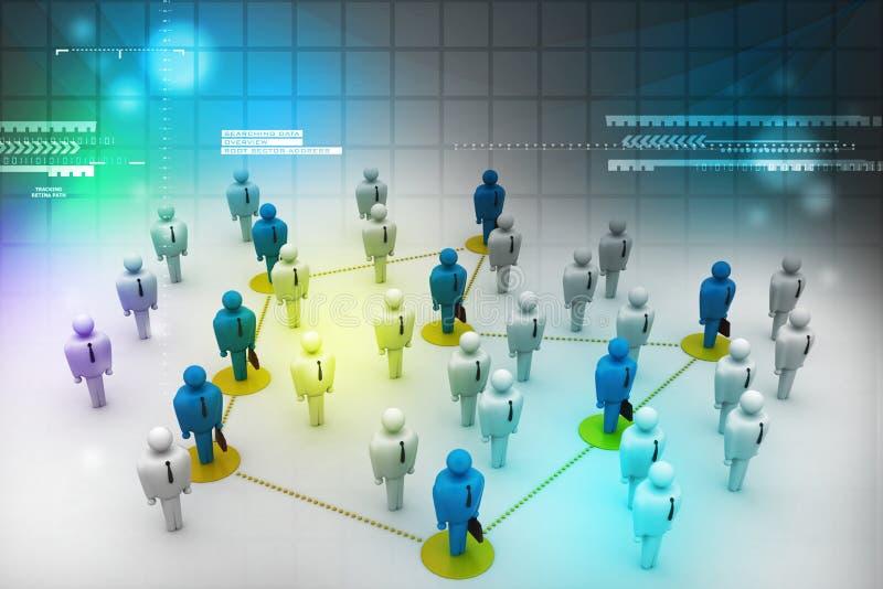 Personnes de mise en réseau illustration de vecteur