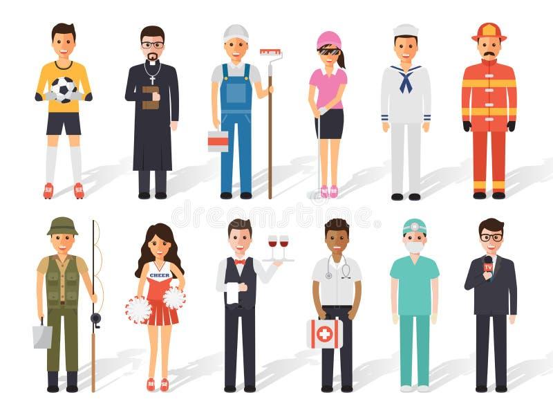 Personnes de profession de profession illustration libre de droits