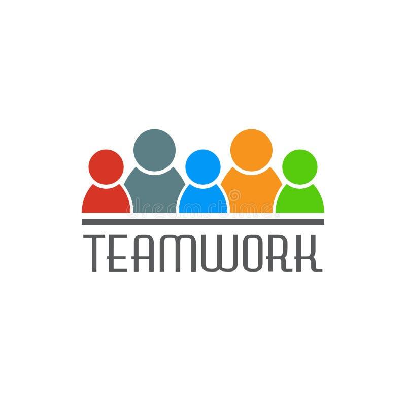 Personnes de travail d'équipe se tenant ensemble Illustration de vecteur illustration stock
