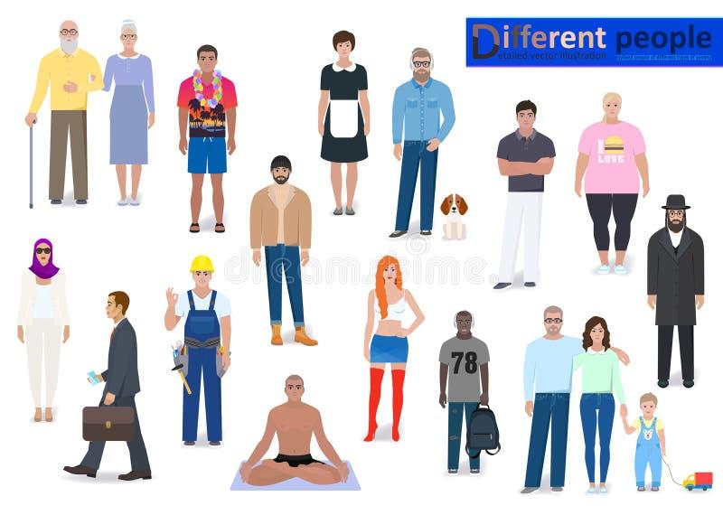 Personnes différentes, illustration de vecteur d'abstraction illustration libre de droits