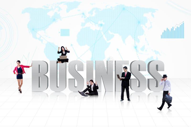 Personnes globales d'affaires illustration de vecteur