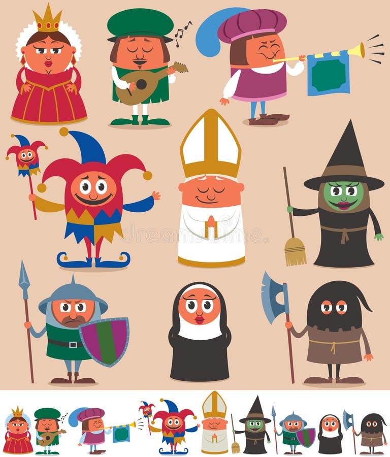 Personnes médiévales 2 illustration libre de droits